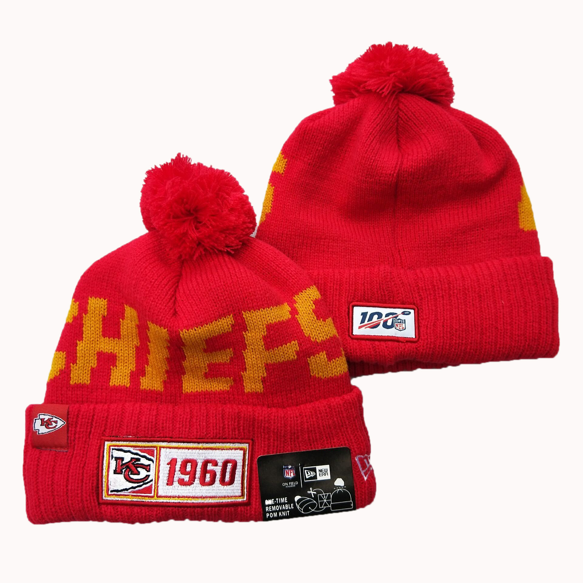 Kansas City Chiefs Knit Hats 058