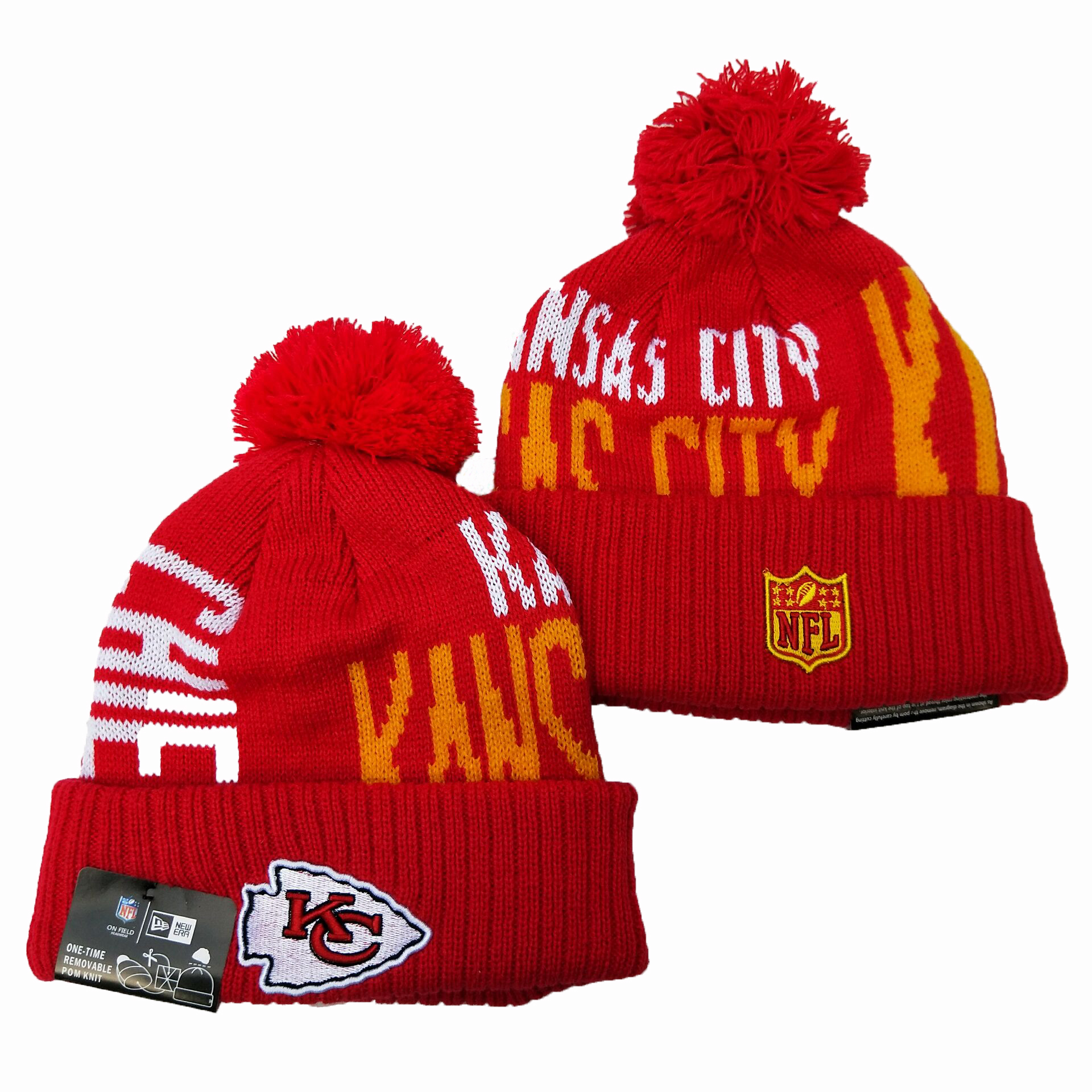 Kansas City Chiefs Knit Hats 056