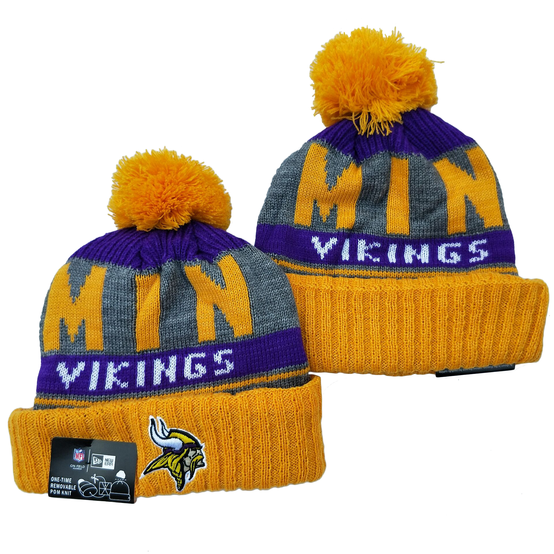 Minnesota Vikings Knit Hats 042