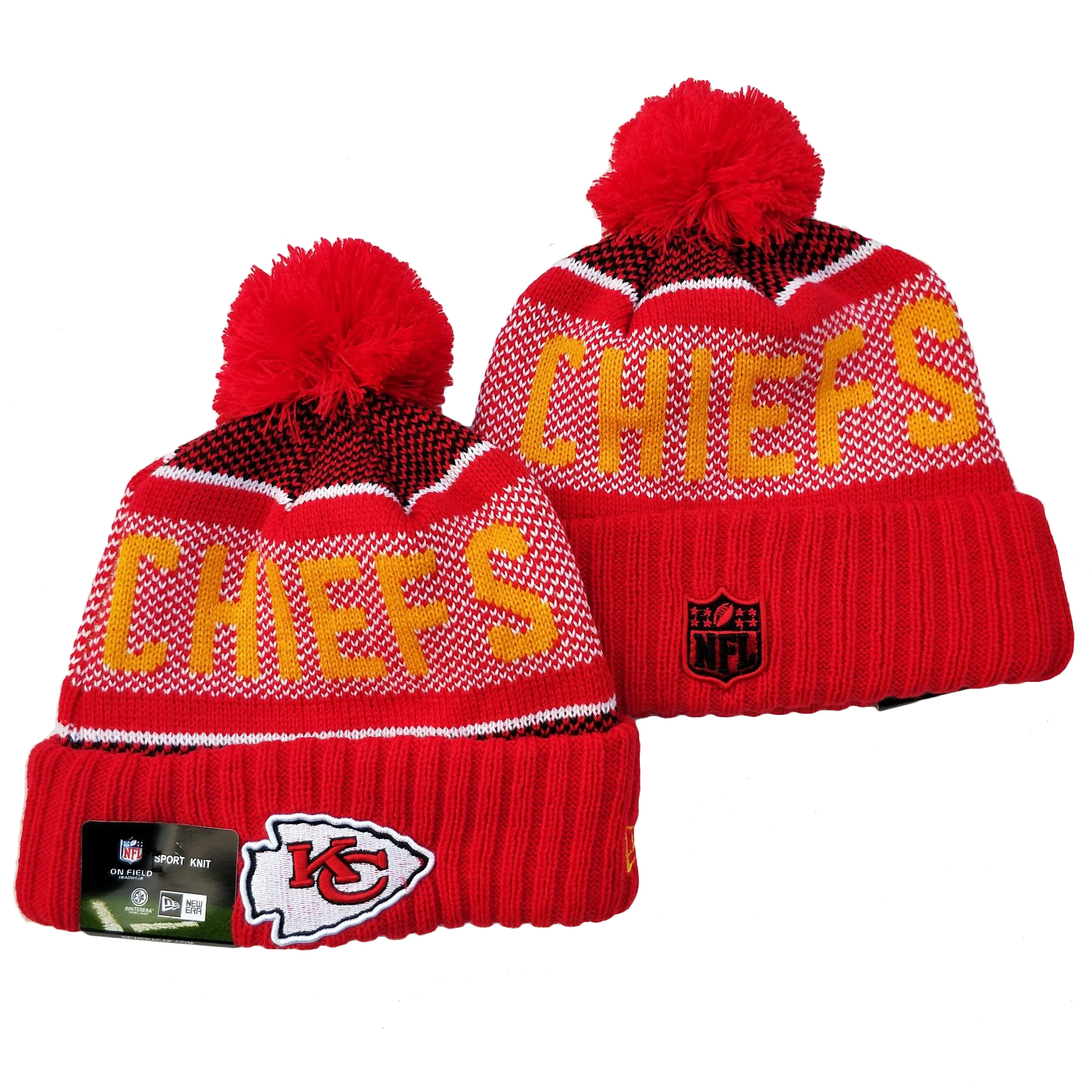Kansas City Chiefs Knit Hats 063