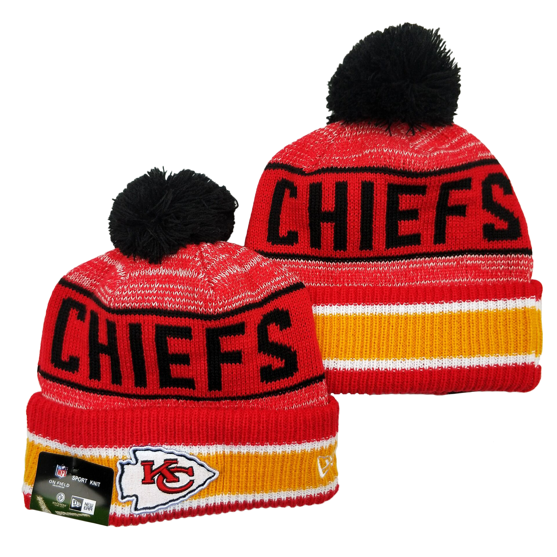 Kansas City Chiefs Knit Hats 073