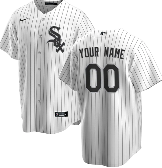 Men's Chicago White Sox Customized White Stitched MLB Jersey