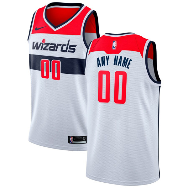 Men's Washington Wizards White Customized Stitched NBA Jersey