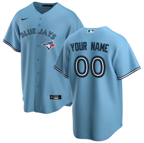 Men's Toronto Blue Jays Customized Blue Stitched MLB Jersey