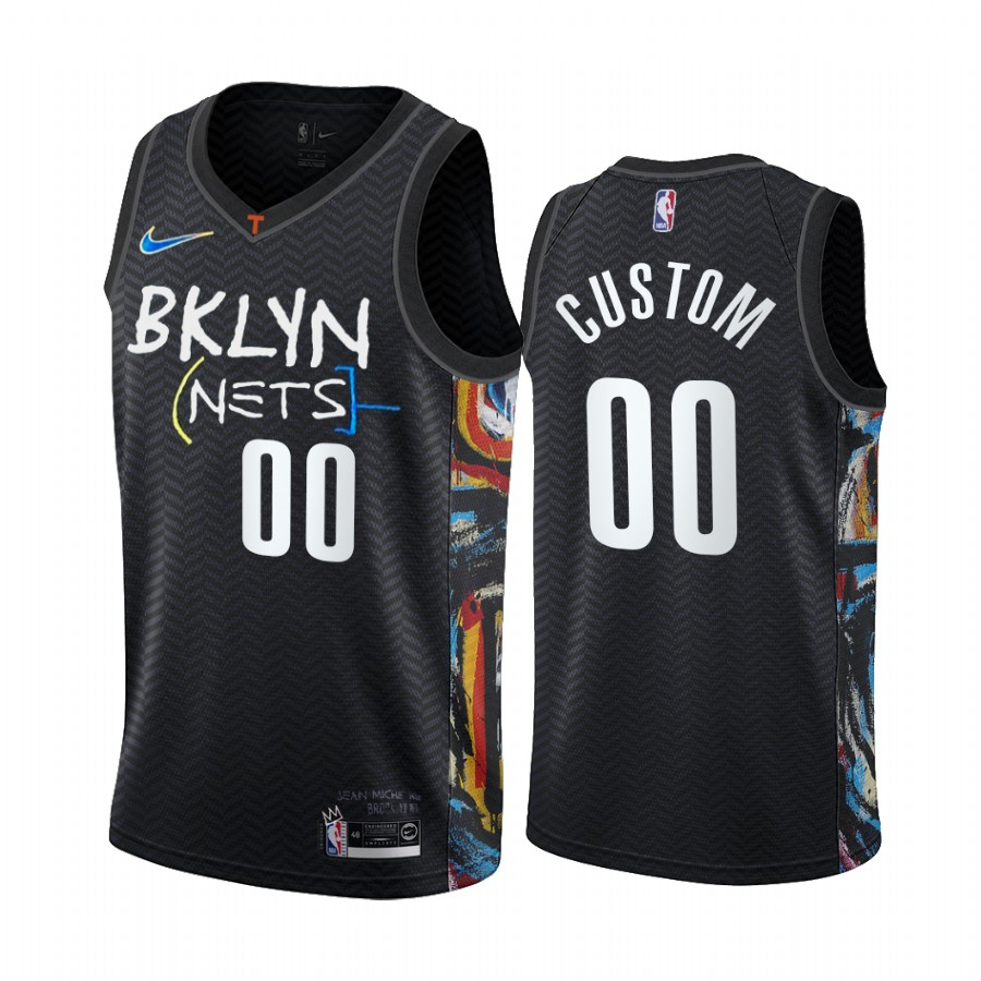 Men's Brooklyn Nets 2020 Black City Edition Customized Stitched NBA Jersey