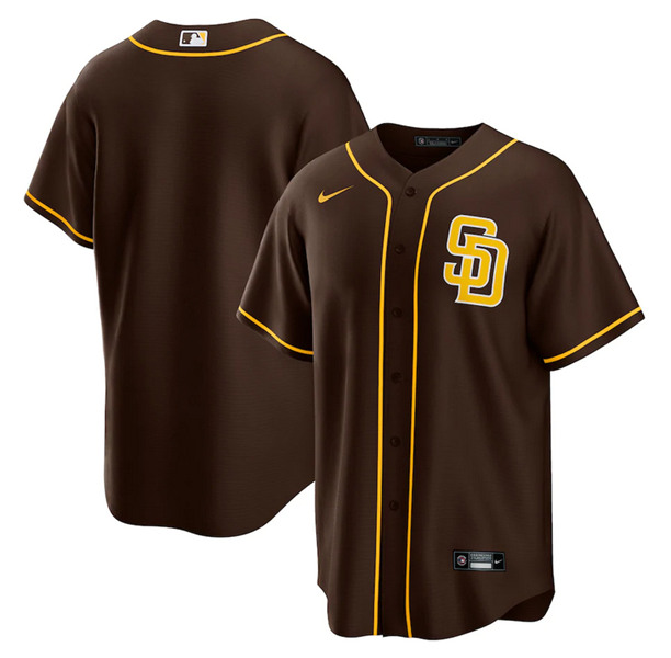 Men's San Diego Padres Customized Brown Stitched Jersey