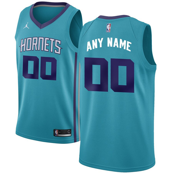 Youth Charlotte Hornets Light Blue Customized Stitched NBA Jersey