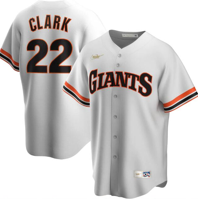 Men's San Francisco Giants #22 Will Clark White Cool Base Stitched Jersey