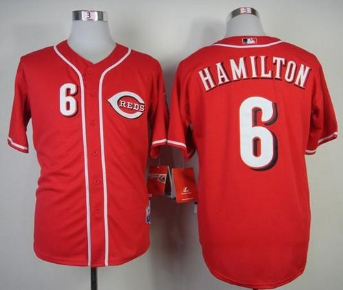 Reds #6 Billy Hamilton Red Cool Base Stitched MLB Jersey