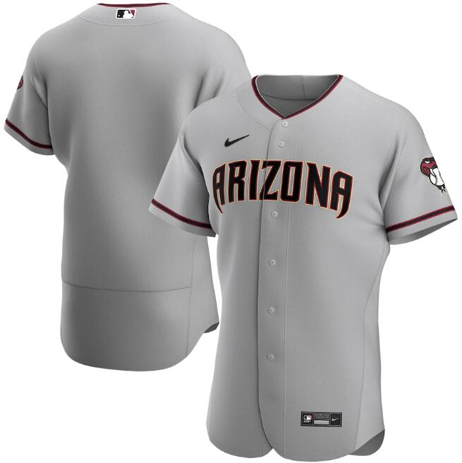 Men's Arizona Diamondbacks Blank 2020 Grey Flex Base Stitched Jersey