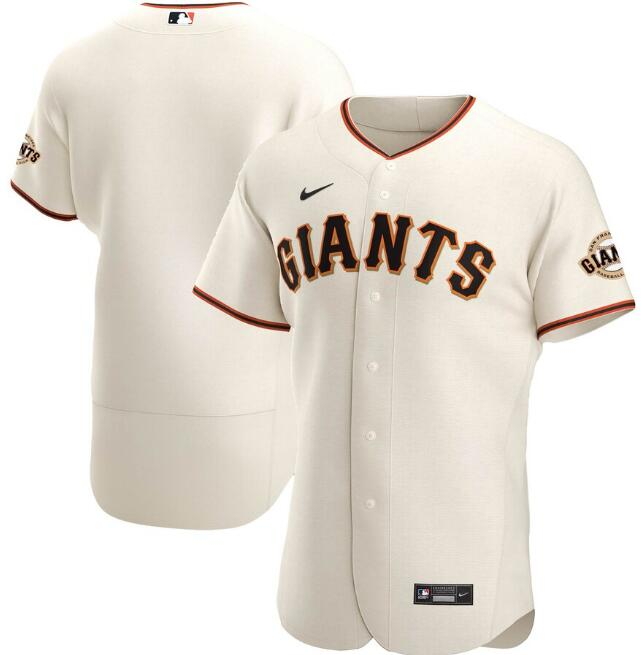 Men's San Francisco Giants Blank Cream Flex Base Stitched Jersey