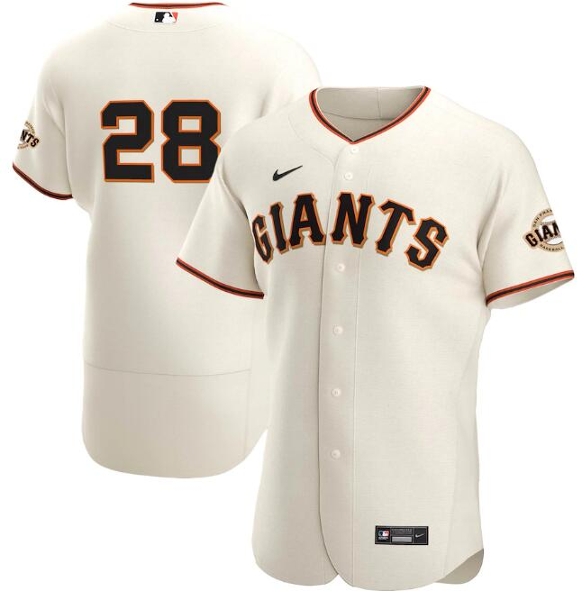 Men's San Francisco Giants #28 Buster Posey Cream Flex Base Stitched Jersey