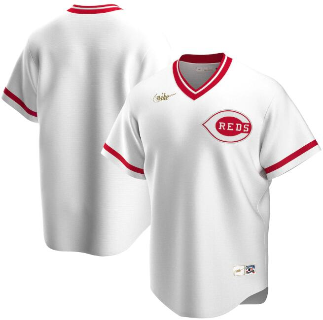 Men's Cincinnati Reds Blank New White Cool Base Stitched Jersey