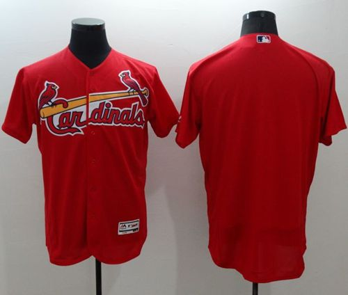 Cardinals Blank Red Flexbase Authentic Collection Stitched MLB Jersey