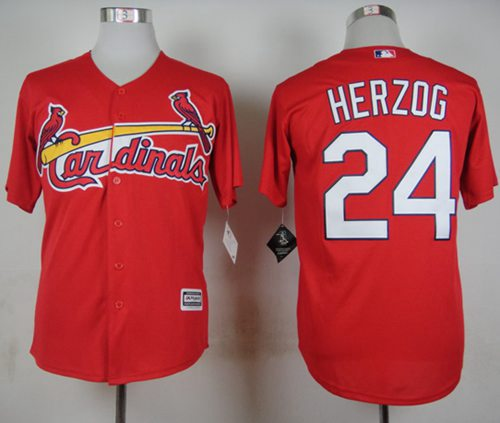 Cardinals #24 Whitey Herzog Red New Cool Base Stitched MLB Jersey
