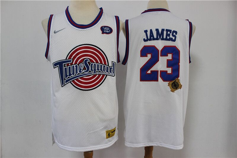 Space Jam Tune Squad #23 LeBron James White Stitched Jersey