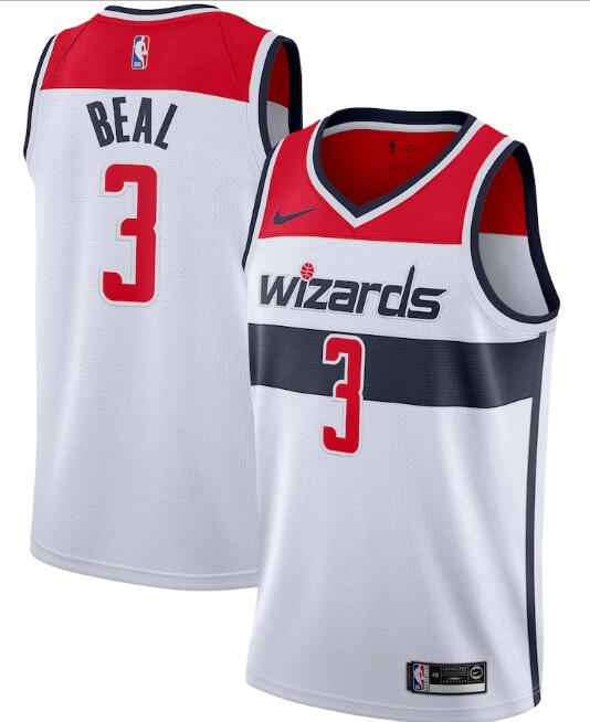 Men's Washington Wizards #3 Bradley Beal White Association Edition Stitched Jersey
