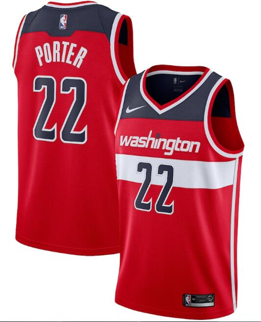 Men's Washington Wizards #22 Otto Porter Red Icon Edition Stitched Jersey