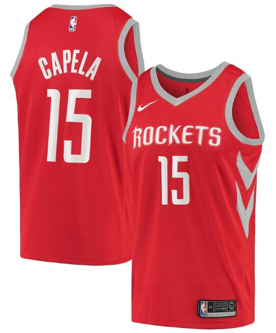 Men's Houston Rockets #15 Clint Capela Red Icon Edition Stitched Jersey