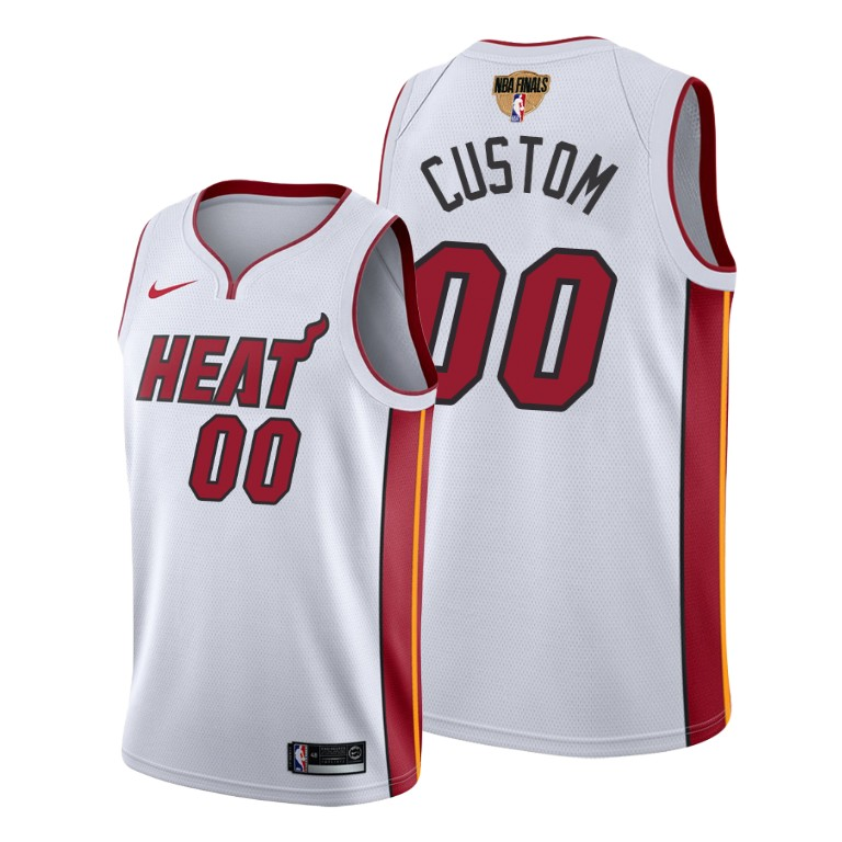 Men's Miami Heat Active Player 2020 White Finals Bound Association Edition Stitched Jersey