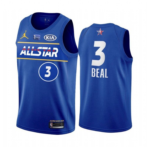 Men's 2021 All-Star Wizards #3 Bradley Beal Blue Eastern Conference Stitched NBA Jersey