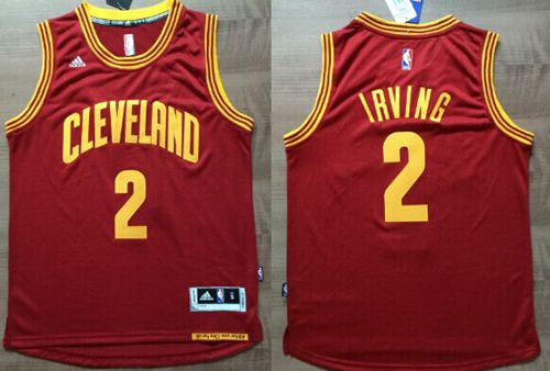 Cavaliers #2 Kyrie Irving Red Revolution 30 Stitched NBA Jersey