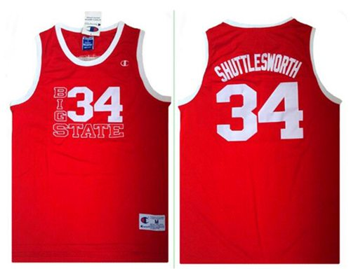 Lincoln He Got Game #34 Jesus Shuttlesworth Red Stitched Basketball Jersey