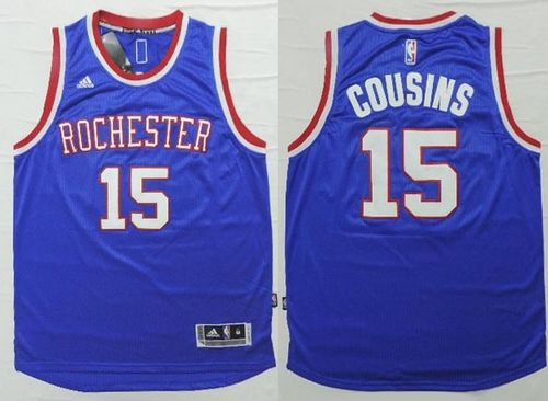 Kings #15 DeMarcus Cousins Light Blue 2014-15 Hardwood Classics Stitched NBA Jersey