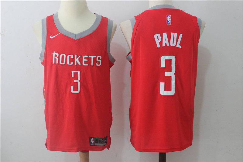 Men's Nike Houston Rockets #3 Chris Paul Red Stitched NBA Jersey