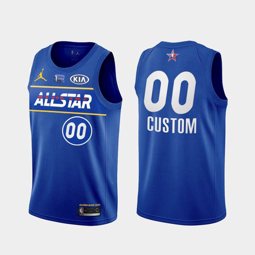Men's 2021 All-Star Custom Blue Eastern Conference Stitched NBA Jersey