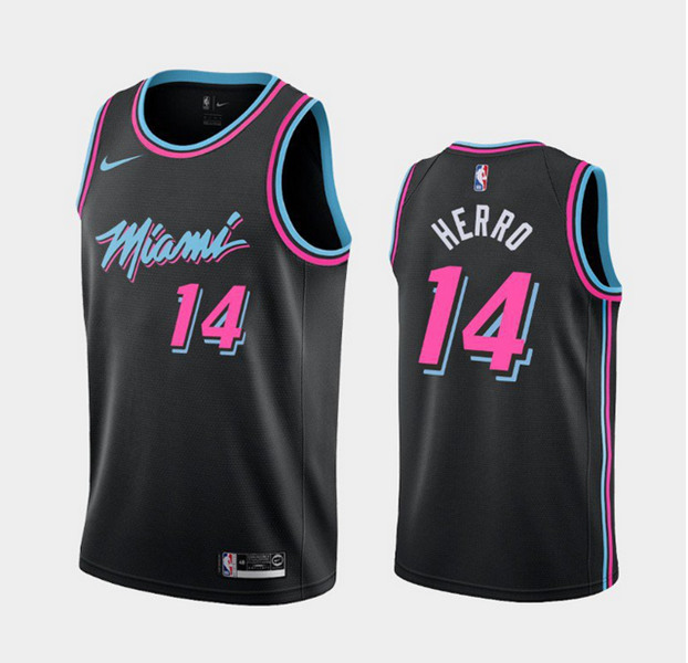 Men's Miami Heat #14 Tyler Herro 2020 Black Stitched Jersey