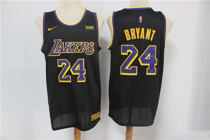 Men's Los Angeles Lakers #24 Kobe Bryant Black Stitched NBA Jersey