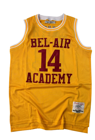 Men's Bel-Air Academy#14 Will Smith Gold Stitched NCAA Jersey