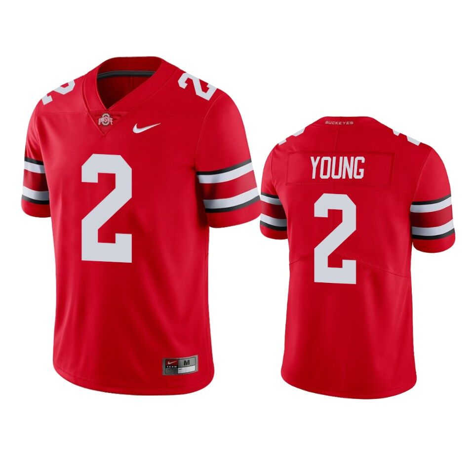 Men's Ohio State Buckeyes #2 Chase Young Scarlet College Football Stitched Jersey
