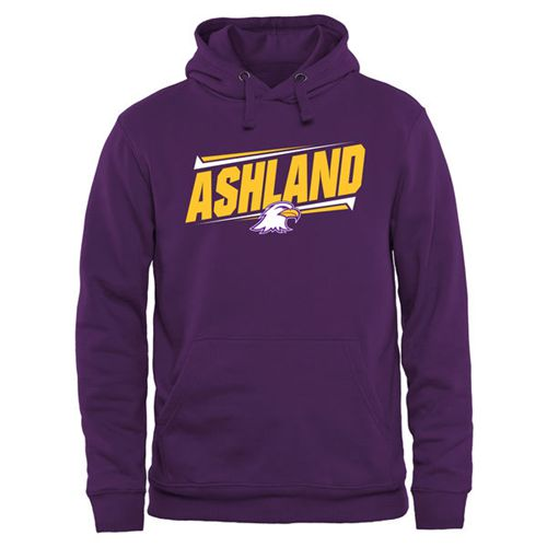 Ashland Eagles Double Bar Pullover Hoodie Purple