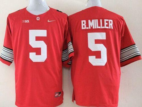 Buckeyes #5 Braxton Miller Red Limited Stitched NCAA Jersey