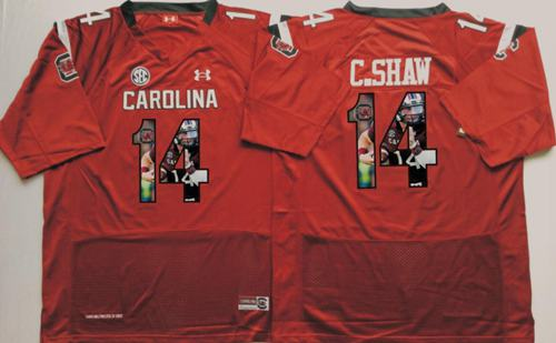 Fighting Gamecocks #14 Connor Shaw Red Player Fashion Stitched NCAA Jersey