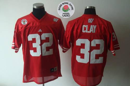 Badgers #32 Red Rose Bowl Game Stitched NCAA Jersey