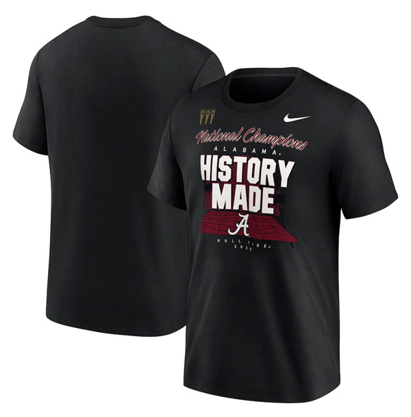 Men's Alabama Crimson Tide 2020 Black National Champions T-Shirt