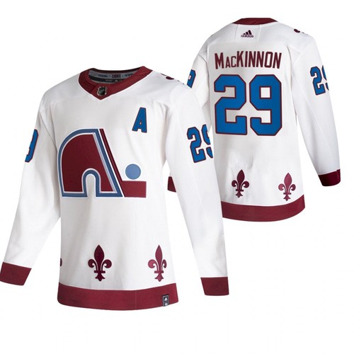Men's Colorado Avalanche #29 Nathan MacKinnon 2020-21 White Reverse Retro Stitched Jersey