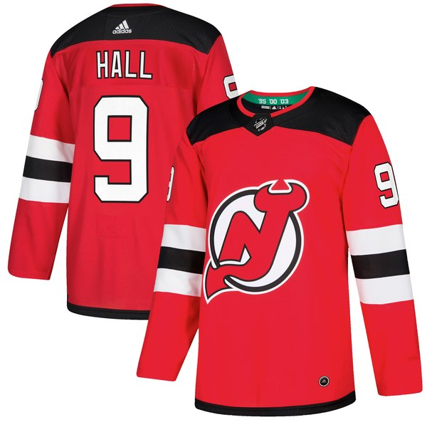 Men's Adidas New Jersey Devils #9 Taylor Hall Red Stitched NHL Jersey