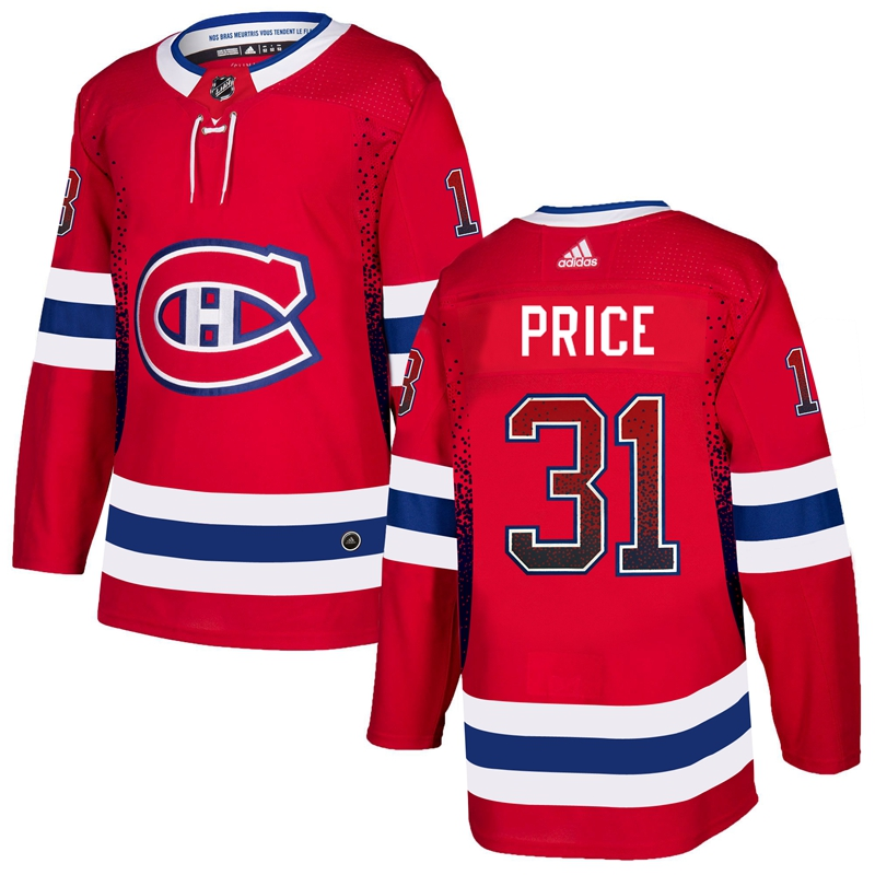 Men's Montreal Canadiens #31 Carey Price Red Drift Fashion Stitched NHL Jersey