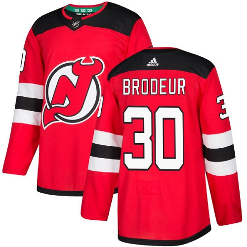 Men's New Jersey Devils #30 Martin Brodeur Red Stitched NHL Jersey