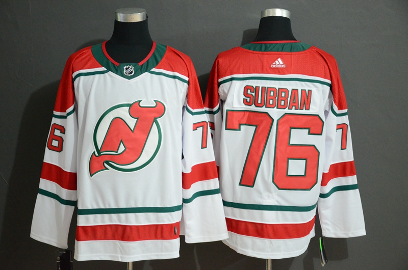Men's New Jersey Devils #76 P.K. Subban White Stitched NHL Jersey