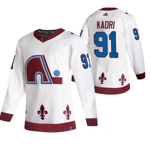Men's Colorado Avalanche #91 Nazem Kadri 2020-21 White Reverse Retro Stitched Jersey