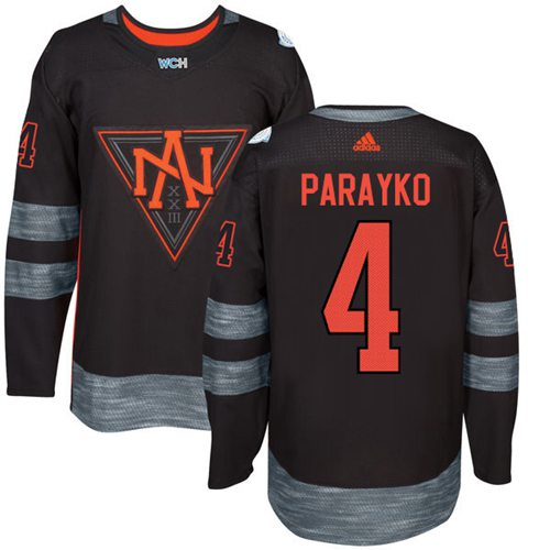 Team North America #4 Colton Parayko Black 2016 World Cup Stitched NHL Jersey