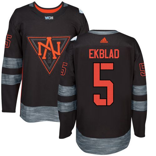 Team North America #5 Aaron Ekblad Black 2016 World Cup Stitched NHL Jersey