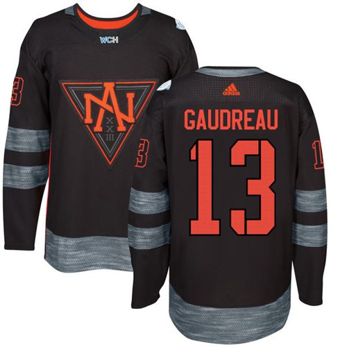Team North America #13 Johnny Gaudreau Black 2016 World Cup Stitched NHL Jersey