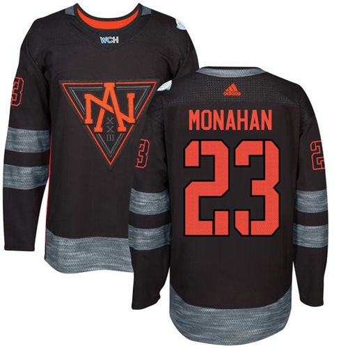 Team North America #23 Sean Monahan Black 2016 World Cup Stitched NHL Jersey