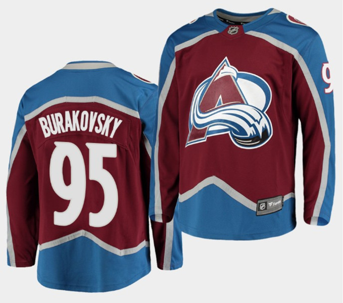 Men's Colorado Avalanche #95 Andre Burakovsky Red Stitched NHL Jersey